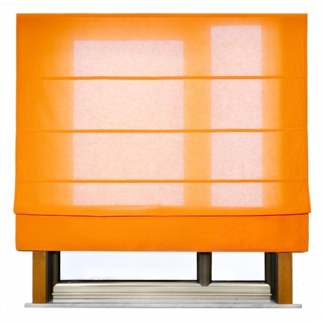 Estor Plegable Loneta naranja